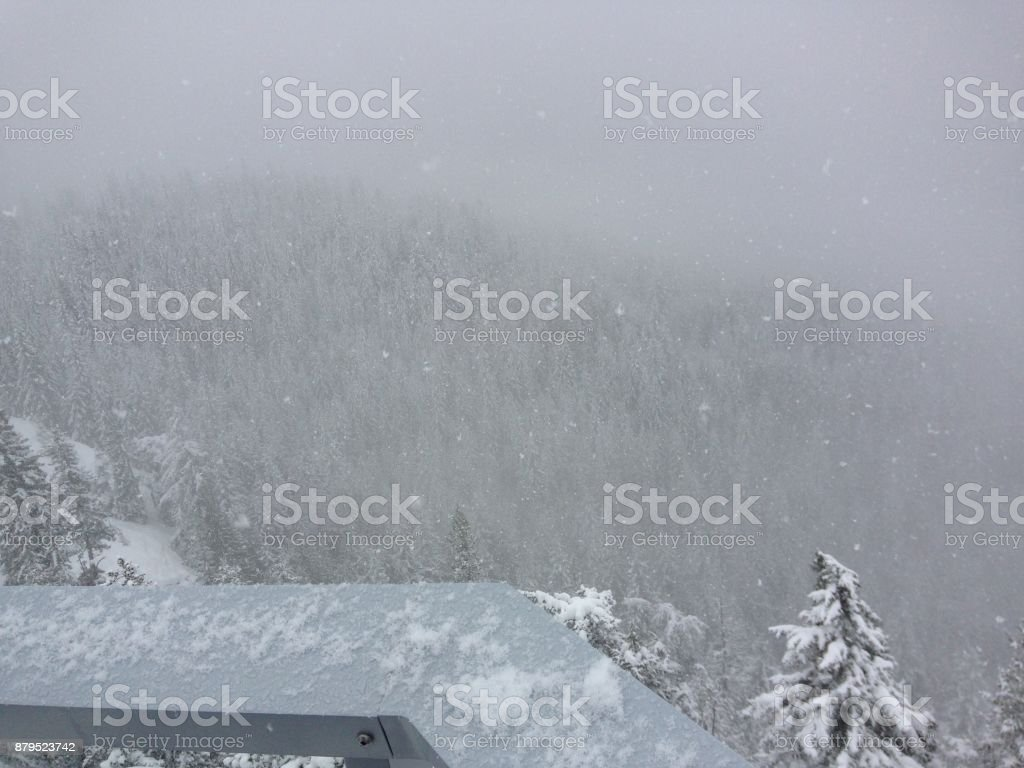 Snowy Mountains up close stock photo