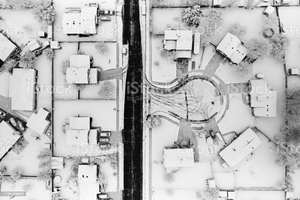 Vue aérienne snowy De l'armée de l'air - Photo de Arbre libre de droits