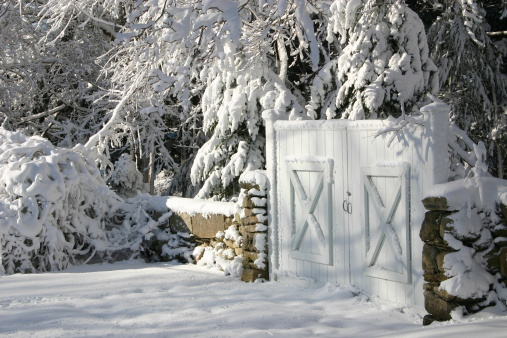 Snowy New England Gate
