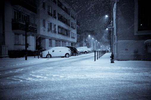 Snowy Night on the Street