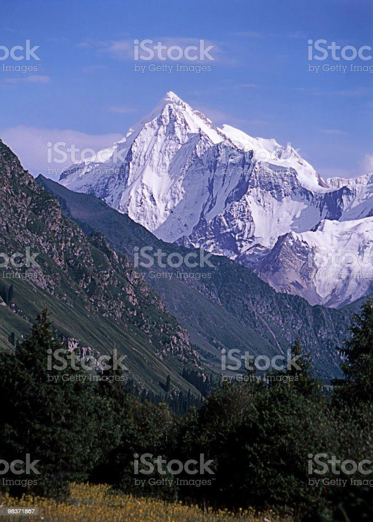 snowy peak royalty-free stock photo