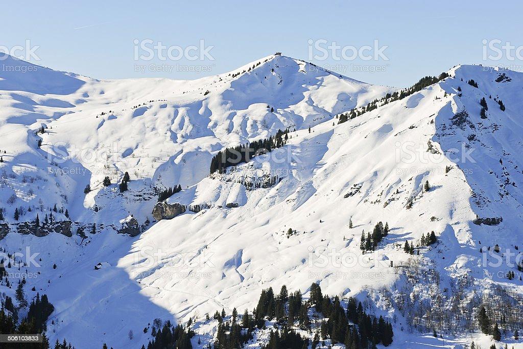 Les sommets enneigés des montagnes des Alpes, France - Photo