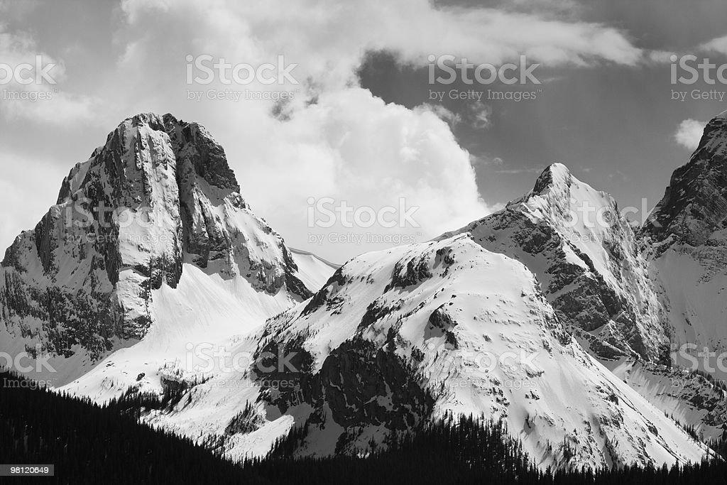 Snowy Peaks royalty-free stock photo