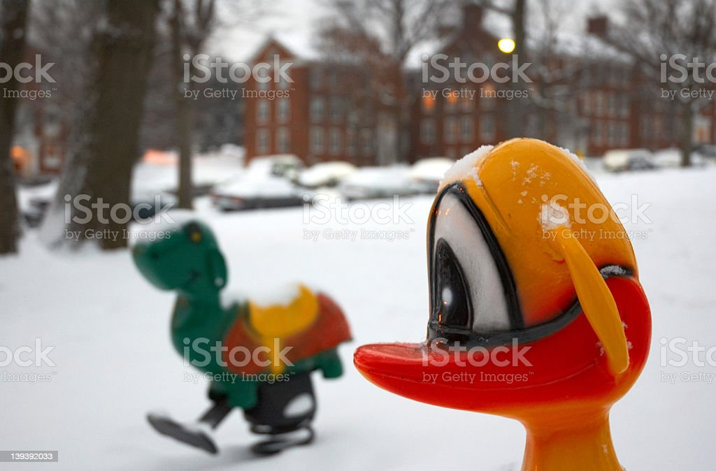 Snowy Playground stock photo