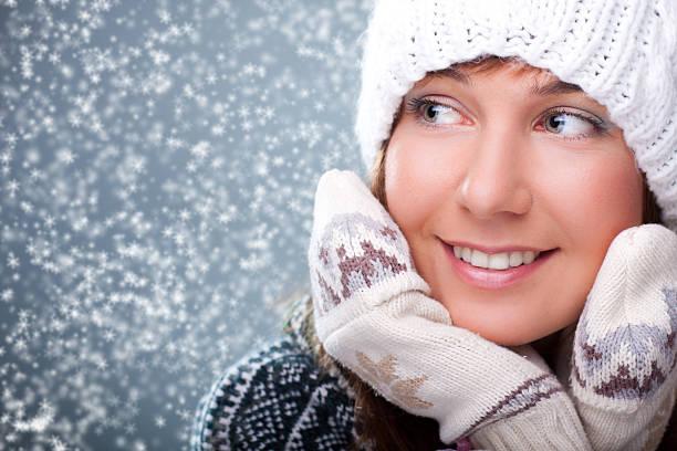 Winter-Porträt von schönen Mädchen – Foto