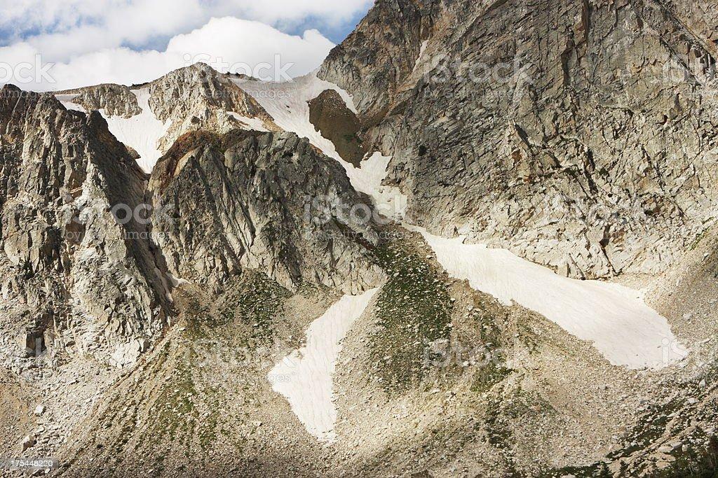 Snowy Range Mountain Glacier Wilderness stock photo