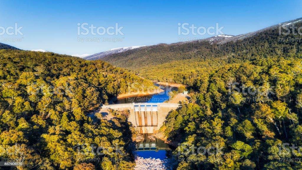 Snowy river Dam stock photo