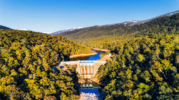 Snowy river Dam stock photo
