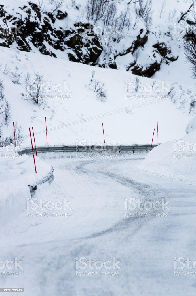 Snowy Road stok fotoğrafı