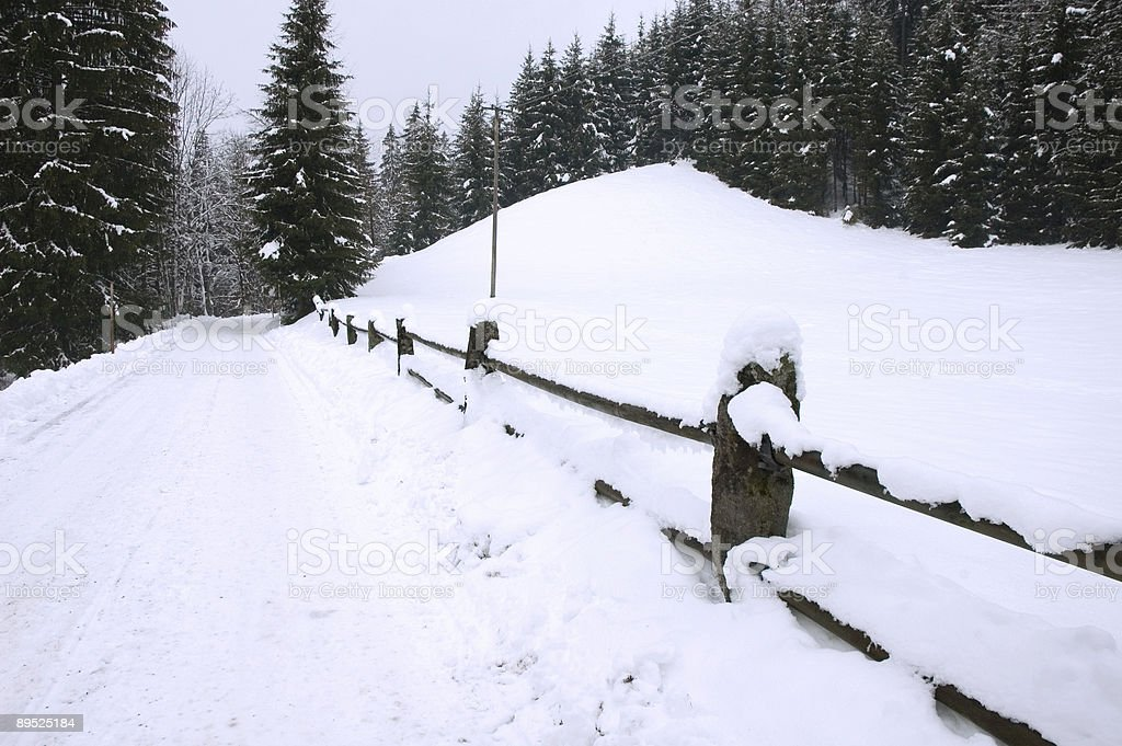 Snowy Road royalty-free stock photo