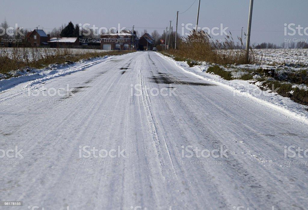 snowy strada foto stock royalty-free