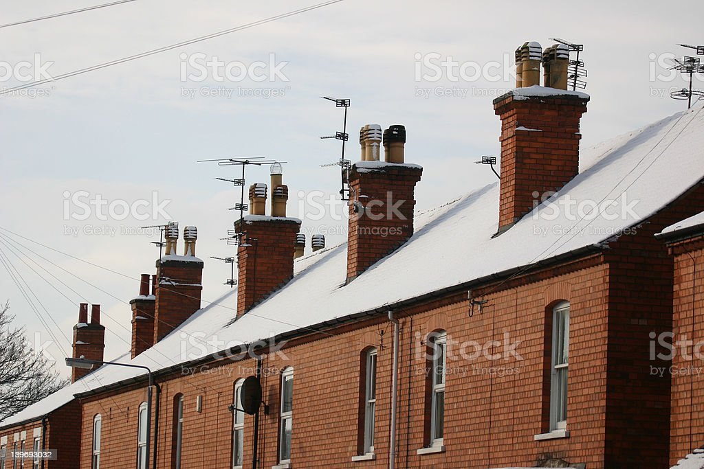 Snowy rooftops royalty-free stock photo