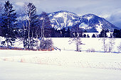 This is a snowy scenery in Bavaria/Germany. It is the area in Germany where most of snow falls in winter.