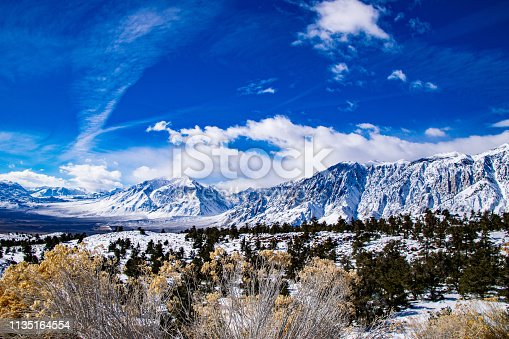 The eastern slope of the Sierras near Mammoth Lakes. CA