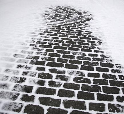 Snowy street floor