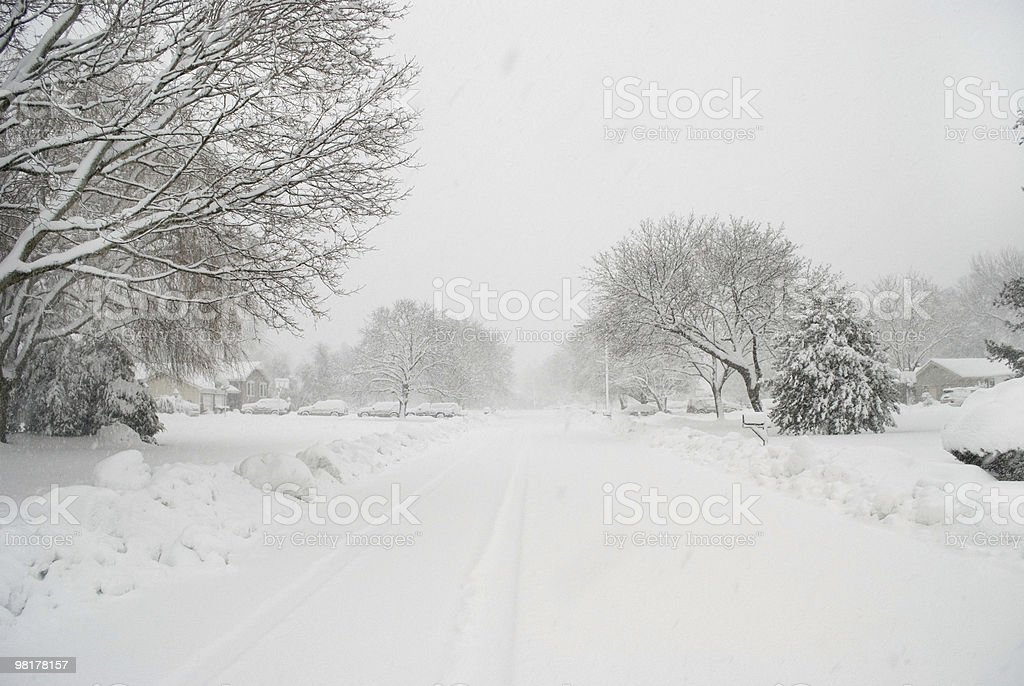 Snowy Street royalty-free stock photo