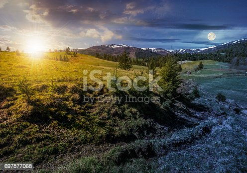 1074120624 istock photo snowy tops of carpathians in springtime 697577068
