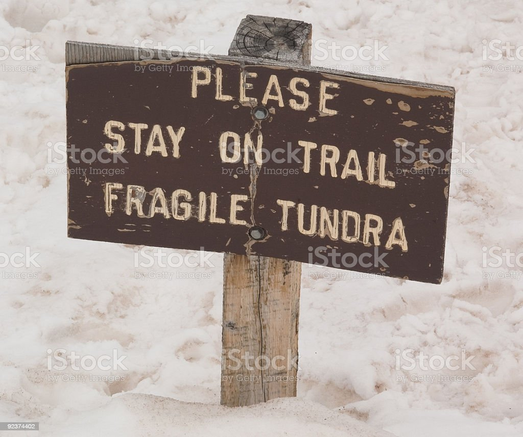 Snowy Trail royalty-free stock photo