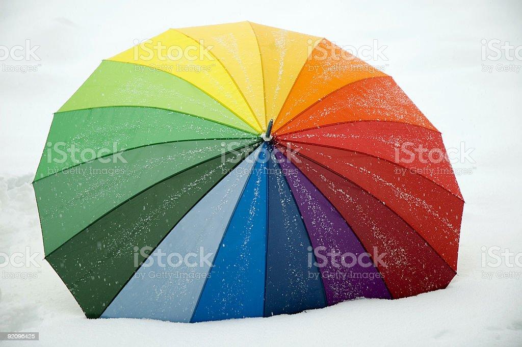 Snowy Umbrella royalty-free stock photo