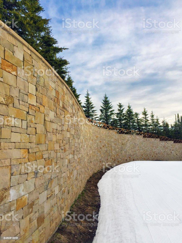 Snowy Wall stock photo