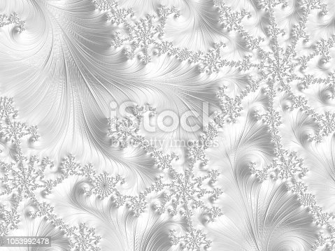 White Fractal with swirling snowy wintery style.