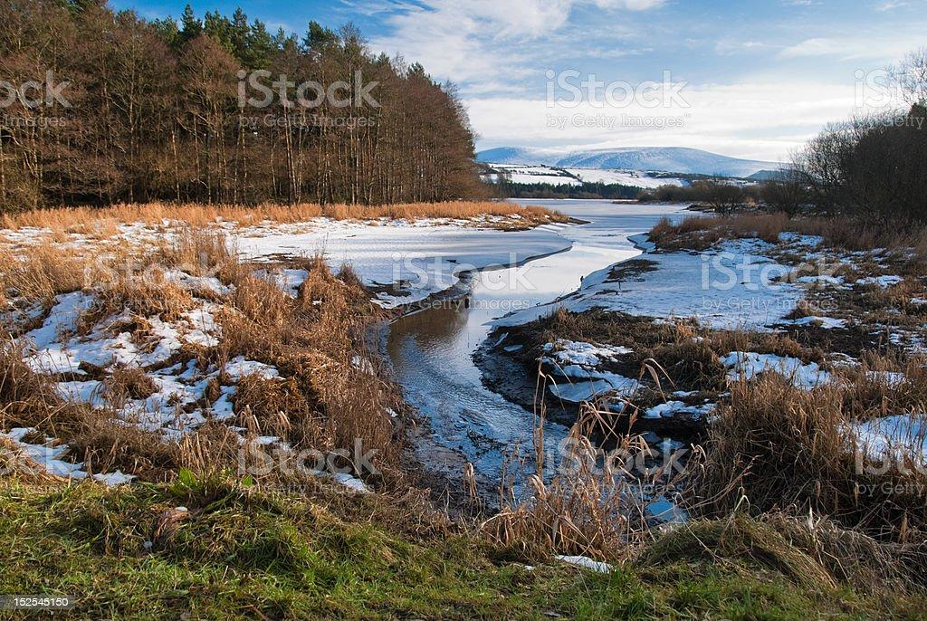 Snowy Wicklow Mountains stock photo