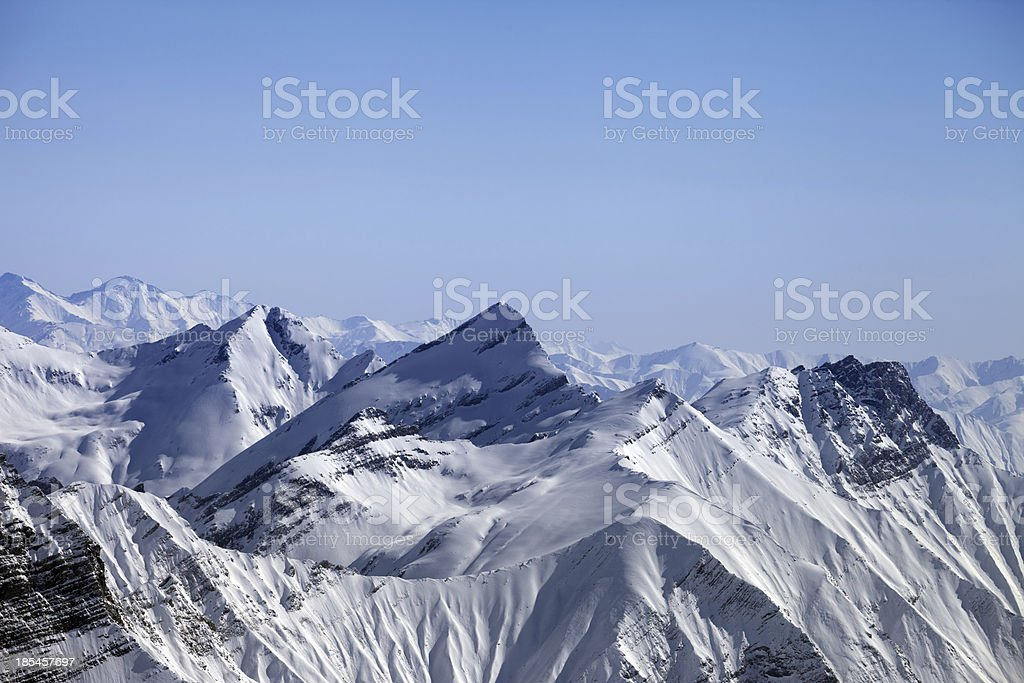 Snowy winter mountains royalty-free stock photo