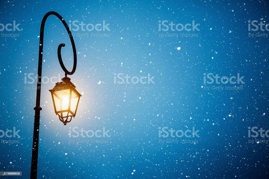 Snowy Winter Night stock photo