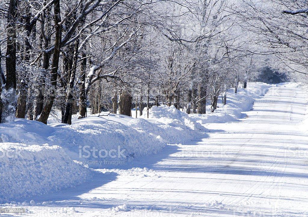 Snowy Winter Street stock photo
