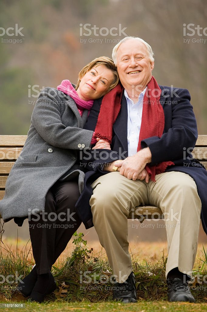 Snuggling in the park royalty-free stock photo