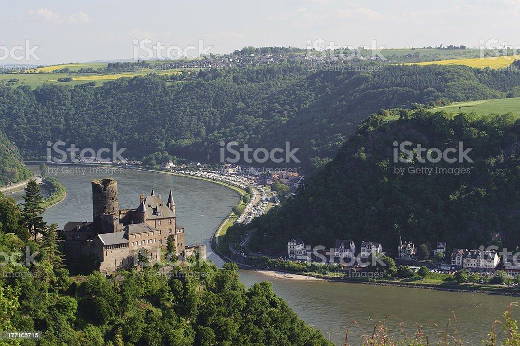 So called castle Katz in Germany stock photo