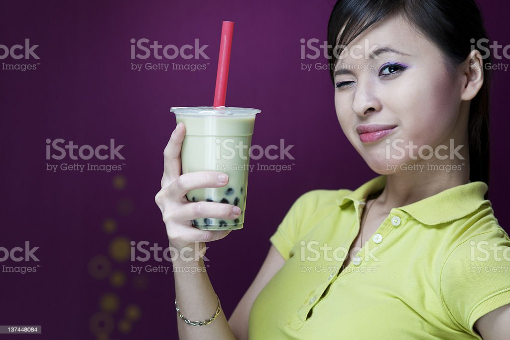 So cool with Bubble Tea stock photo