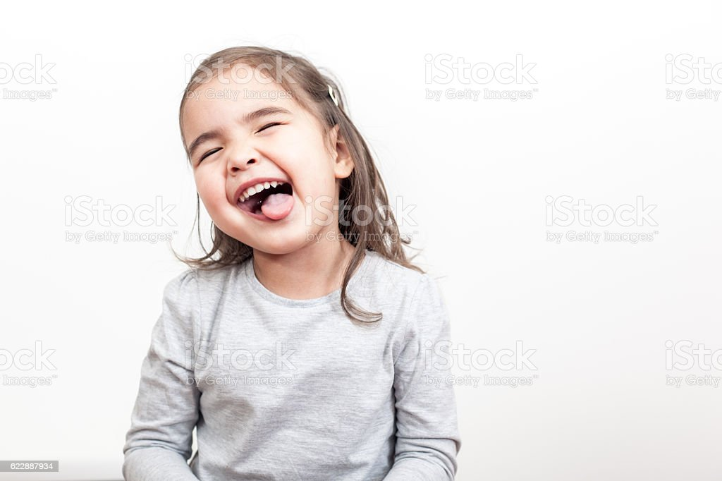 So Happy Small Girl stock photo