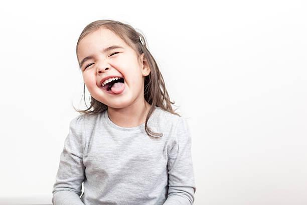 So Happy Small Girl stock photo