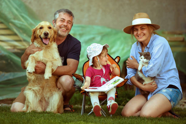 So happy together! Family time! - foto stock