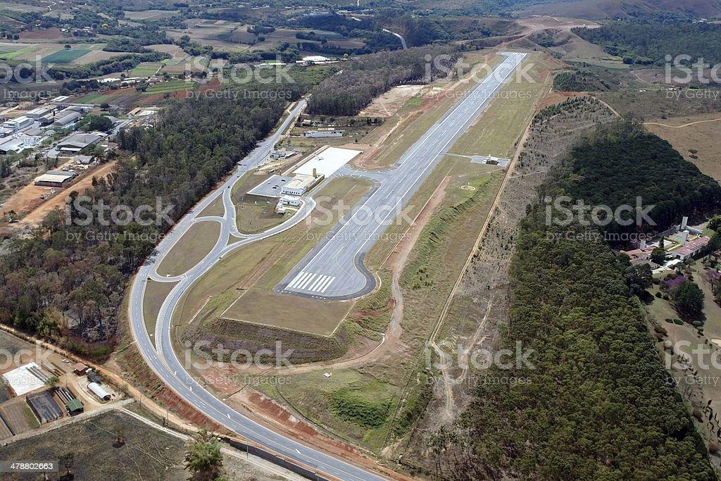 São João Del Rei Airport in Minas Gerais, Brazil royalty-free stock photo