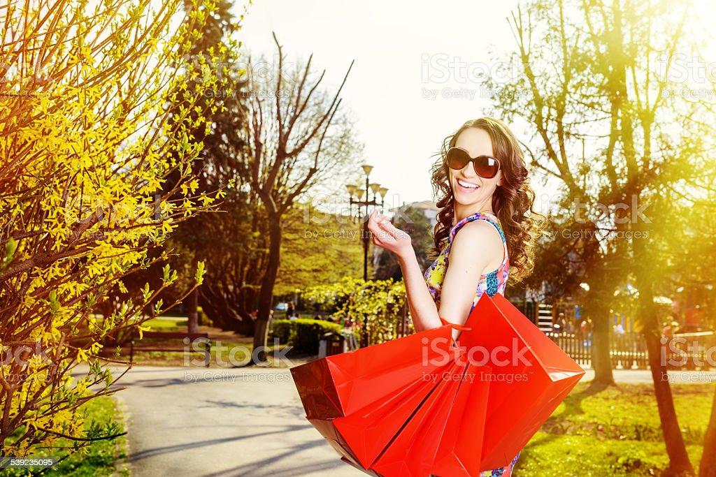 Tantas sacos de compras foto royalty-free