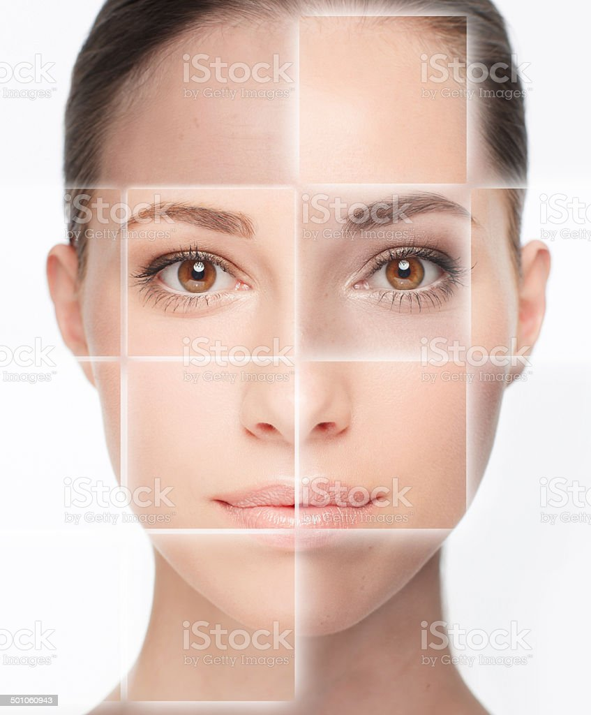 So many skin types stock photo