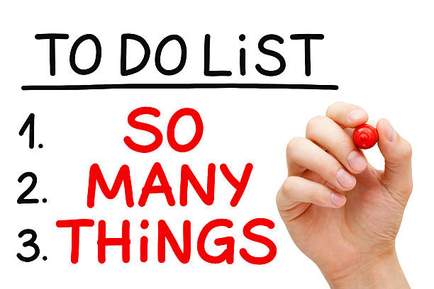 So Many Things To Do List stock photo