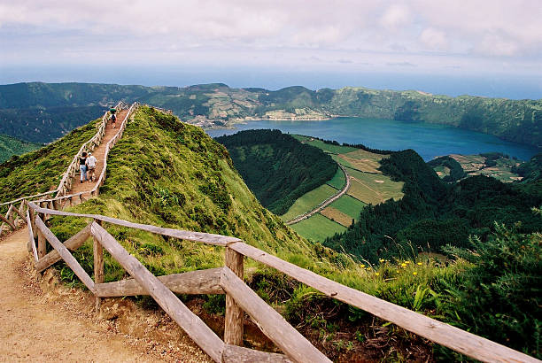 São Miguel Island - Panoramic with Sete Cidades Lagoon – Foto