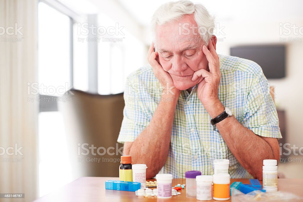 So much medication! stock photo