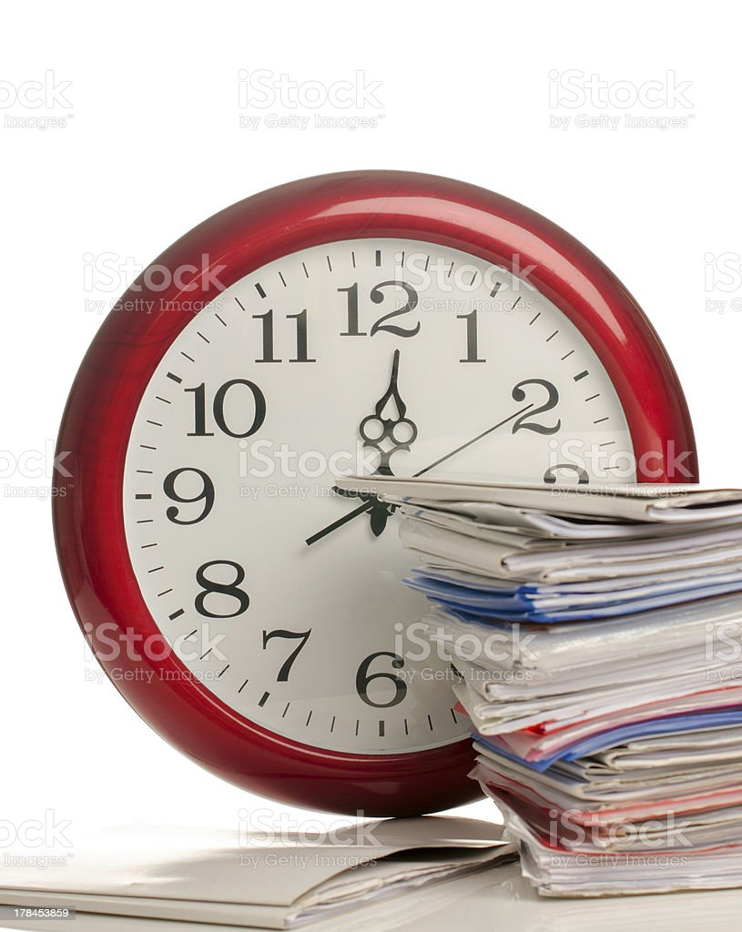 So much work too little time royalty-free stock photo