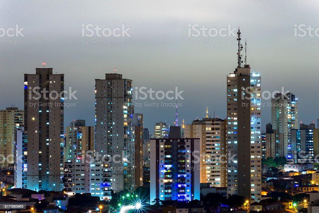 São Paulo at night stock photo