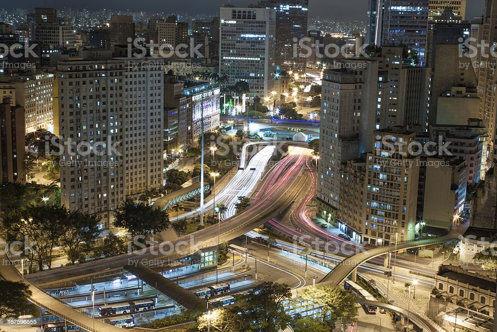 São Paulo City Center stock photo