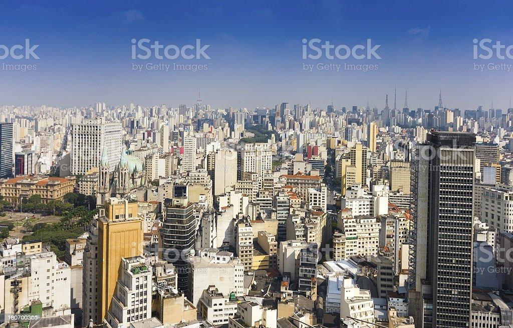 São Paulo City royalty-free stock photo