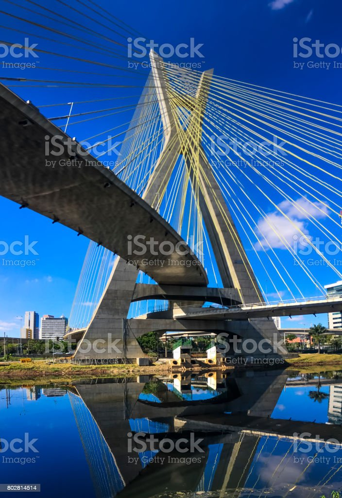 São Paulo Panorama an der Brücke geblieben – Foto