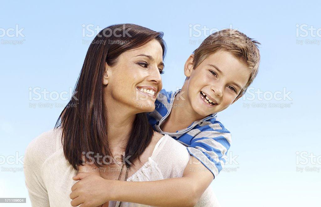 So proud of my little boy royalty-free stock photo