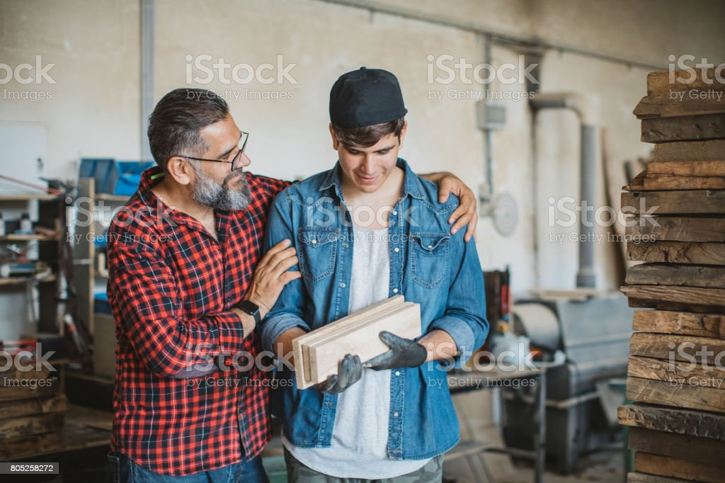 So proud of you son! stock photo