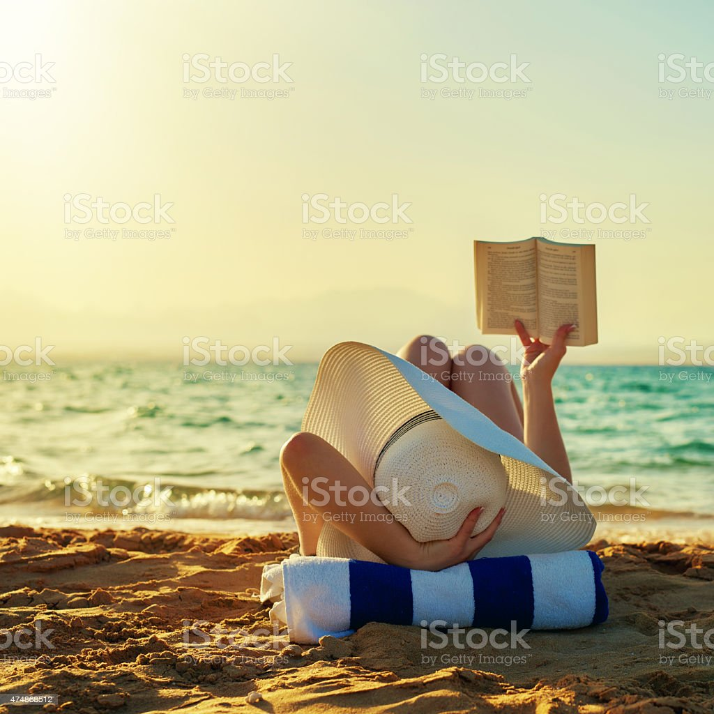 so relax when reading stock photo