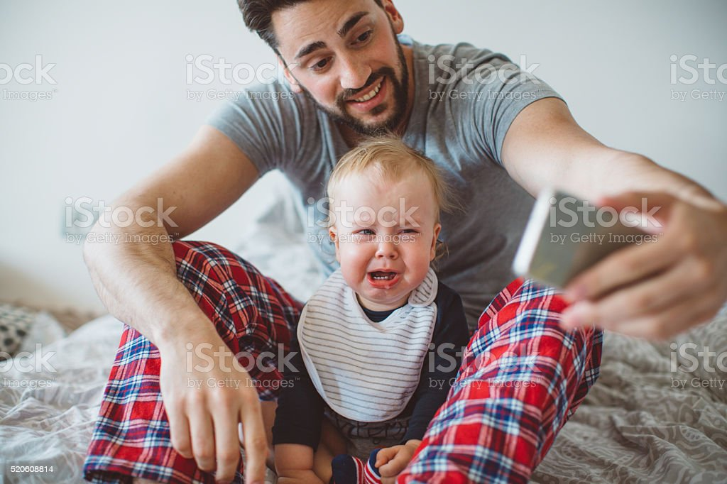 So sweet when crying stock photo